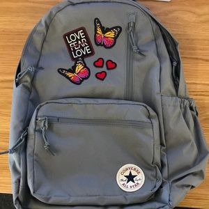 Converse backpack with custom patches